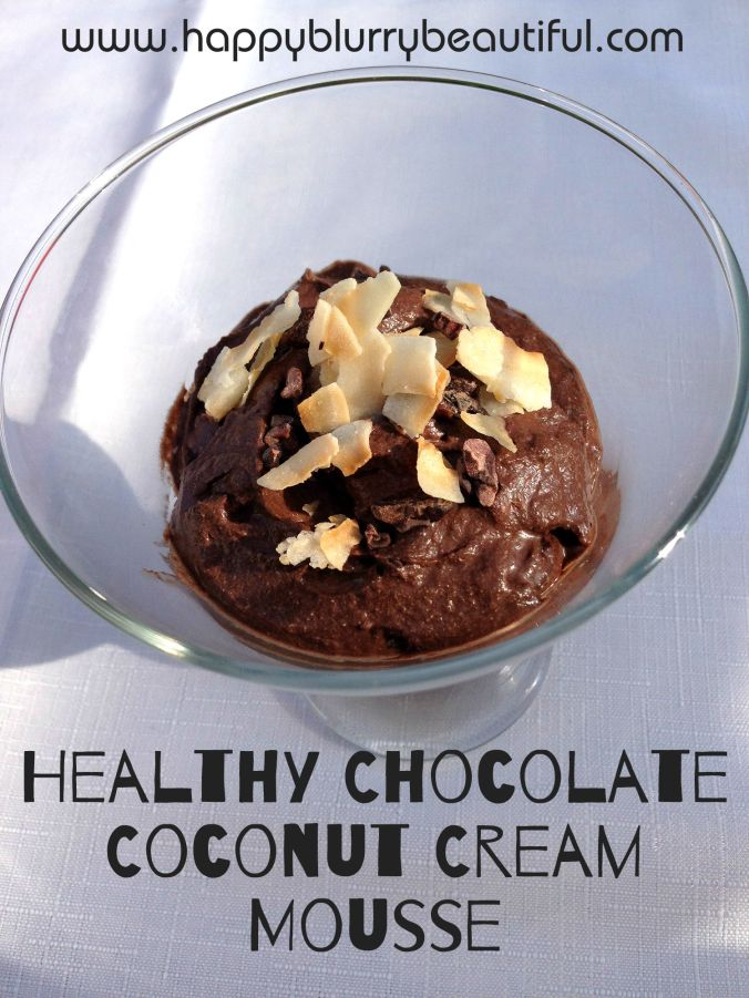 chocolate coconut cream mousse