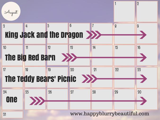 august book schedule