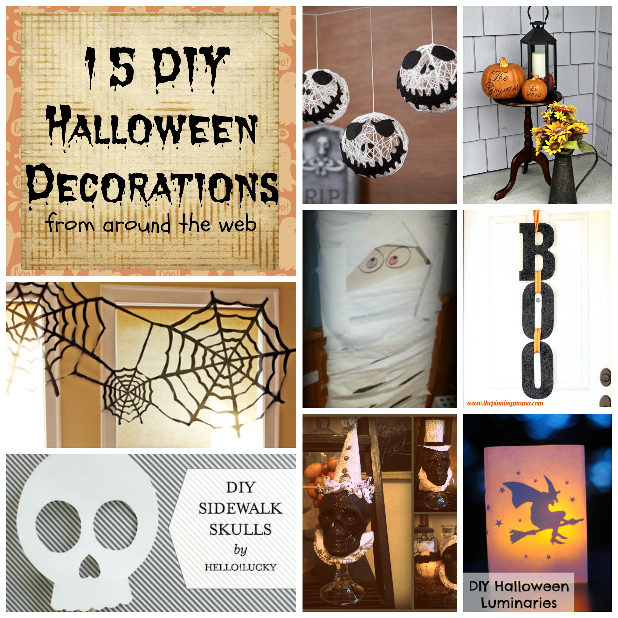 diy halloween decorations happy blurry beautiful. Black Bedroom Furniture Sets. Home Design Ideas