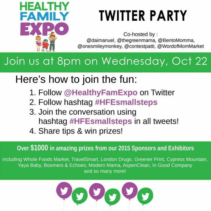 twitter party HEALTHY FAMILY EXPO