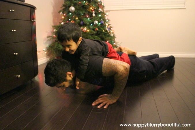 It's great to incorporate bodyweight in your workout...even if it's from your little one!