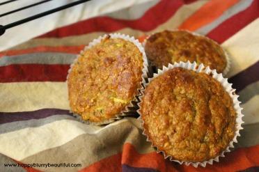 zucchini carrot protein muffins