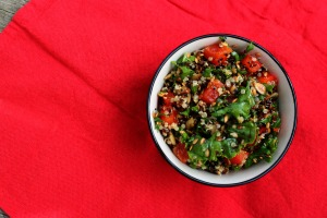 quinoa salad, avocado oil